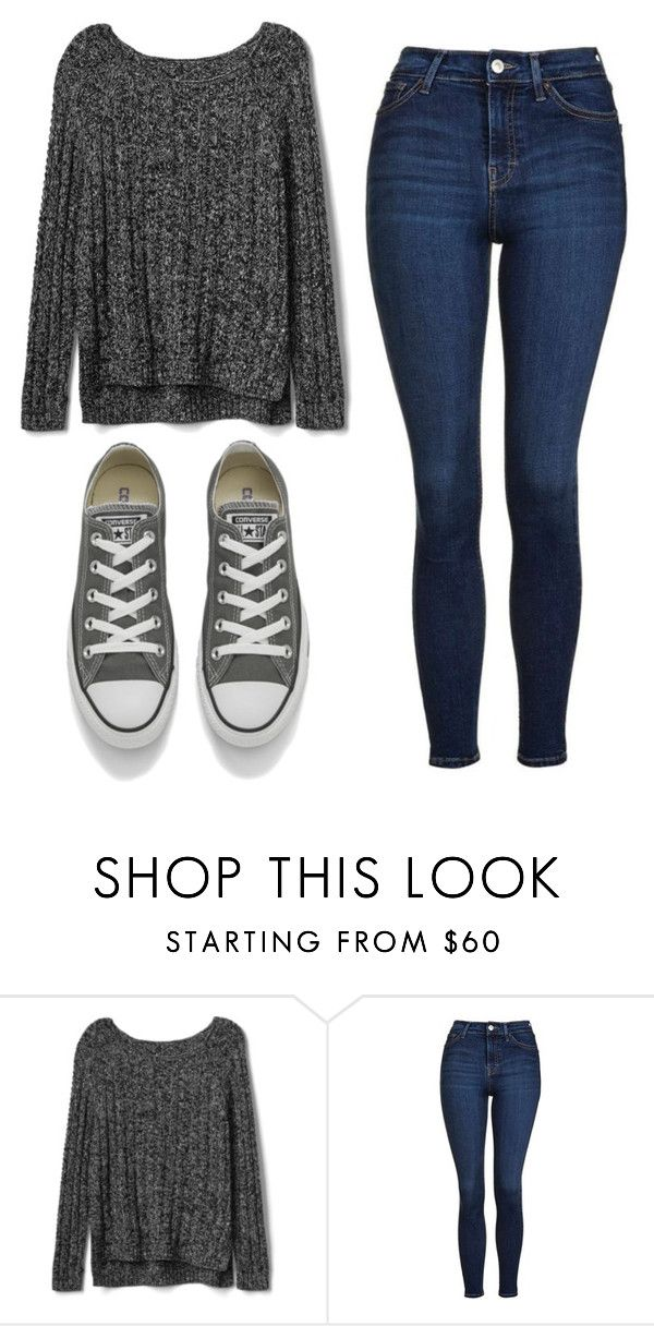 """""""Untitled #499"""" by cuteskyiscute ❤ liked on Polyvore featuring Gap, Topshop and Converse"""