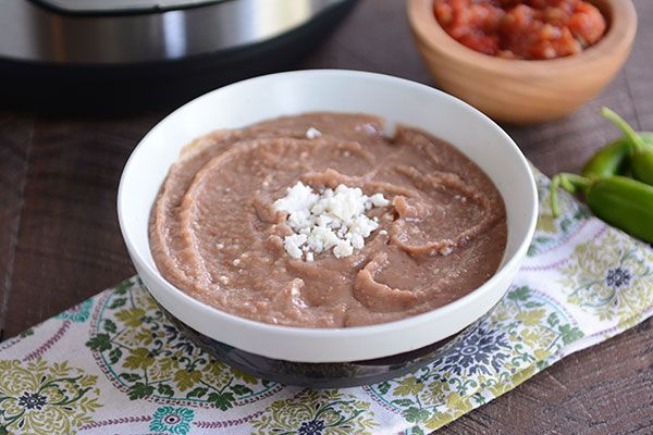 Thanks to the magic of a pressure cooker, refried beans have never been easier! They cook to perfection in less than 35 minutes (no pre-soaking required).