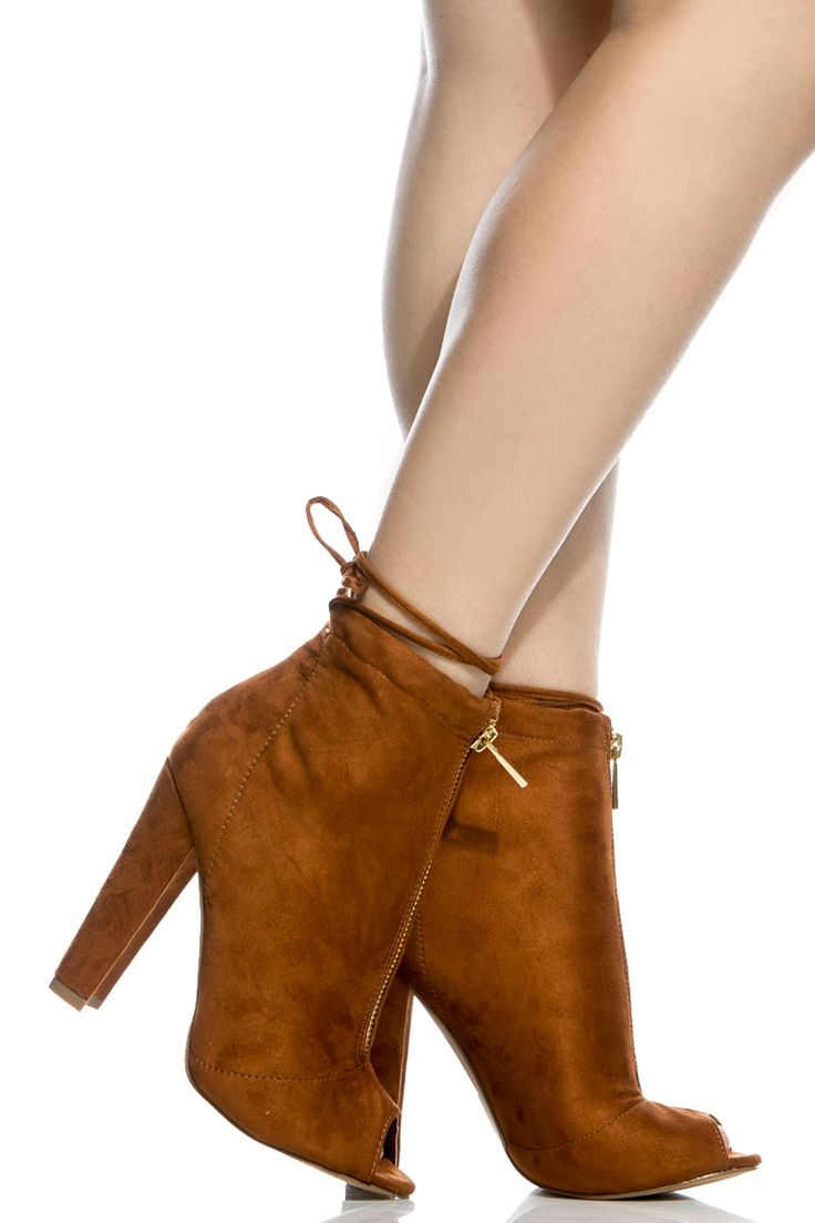Chestnut Faux Suede Chunky Zipper Accent Peep Toe Booties @ Cicihot. Booties spell style, so if you want to show what you're made of, pick up a pair. Have fun experimenting with all we have to offer!