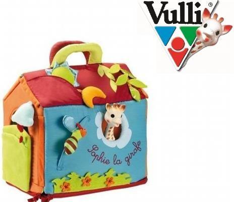 Dom Żyrafy Sophie - Domek dla Żyrafki Sophie - mata wielofunkcyjna - pełen stymulujących rzeczy do zabawy dla Dziecka, przybiera różne kształty, łatwy do transportowania, zawiera lateksową Żyrafkę Sophie.