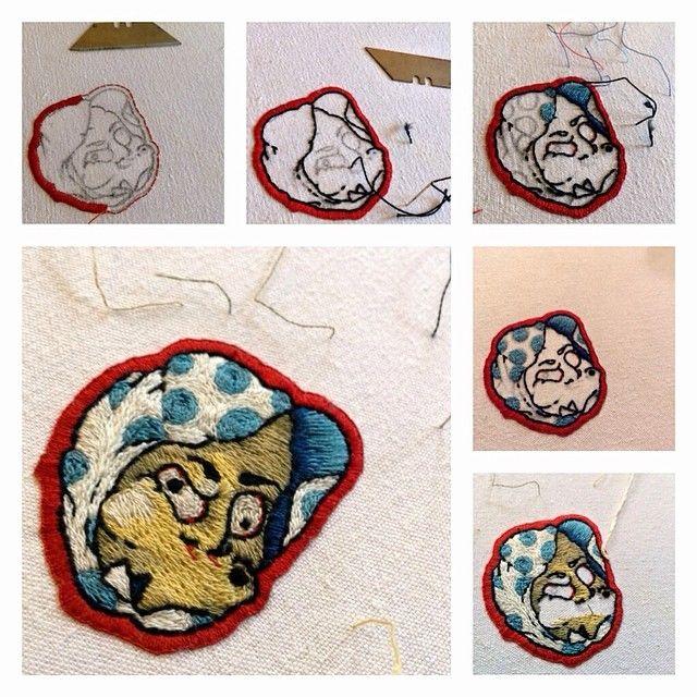 #embroidery #handemade #stepbystep #mounshak #japanese #craft #epinglettophiliste