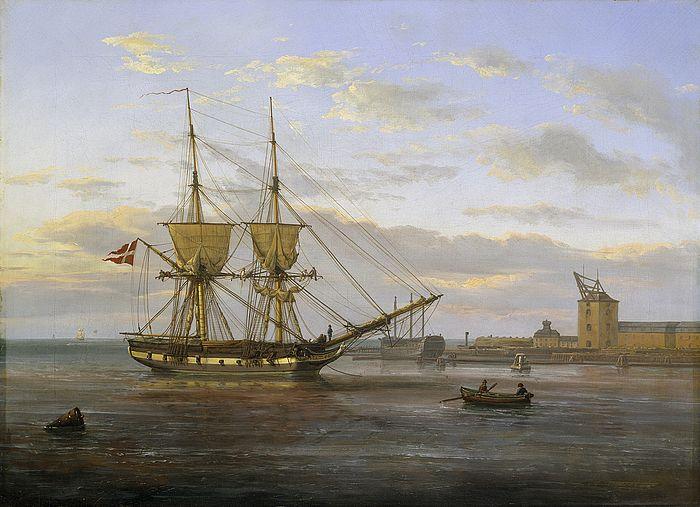 Indsejlingen til København )J. C. Dahl) - Marine art - Wikipedia, the free encyclopedia