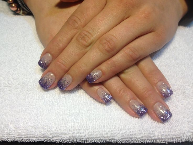 Purple and silver tinsel by Laurie Favell