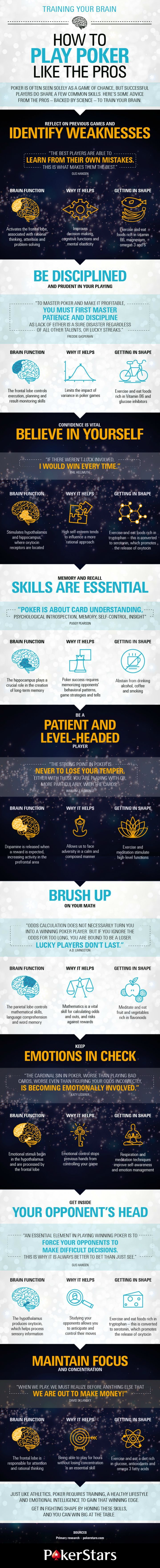 Training Your Brain - How to Play Poker Like the Pros #infographic #HowTo #Poker