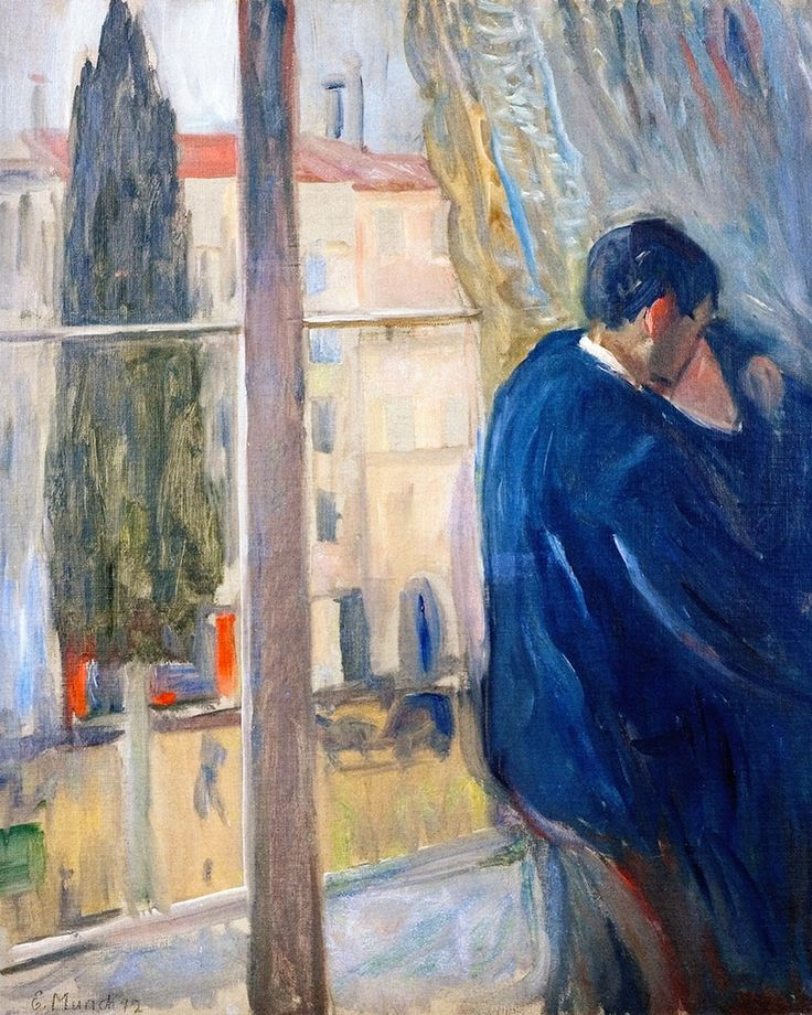 The Kiss (1892) by Edvard Munch