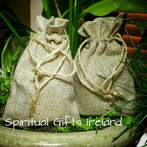 If you're looking for a more natural alternative to velvet or organza bags for your crystals then you'll love our eco friendly mini Jute Sacs.  The natural fibres used allow your crystals to breath and act as a natural energy shield protecting them from negativity and electromagnetic energy.  Each bag is 95mm (width) x 140mm (height) in size.