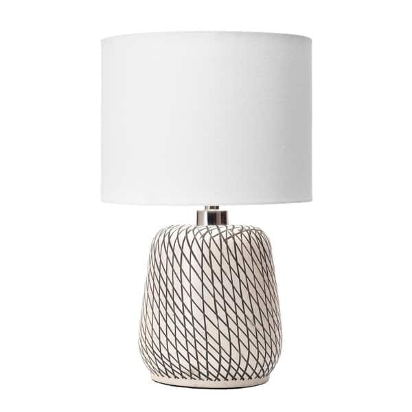 Nuloom Hope 25 Contemporary Glass Beige Table Lamp In 2020