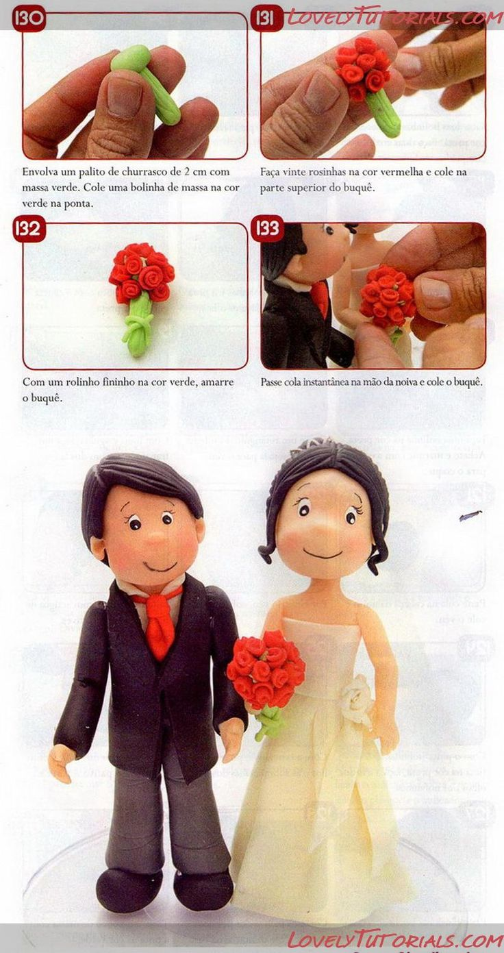 bride and groom tutorial