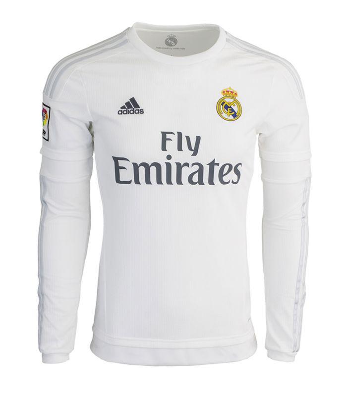 Camiseta Real Madrid 2015-2016 Local ML Adidas Hombre Futbol Comprar Ahora