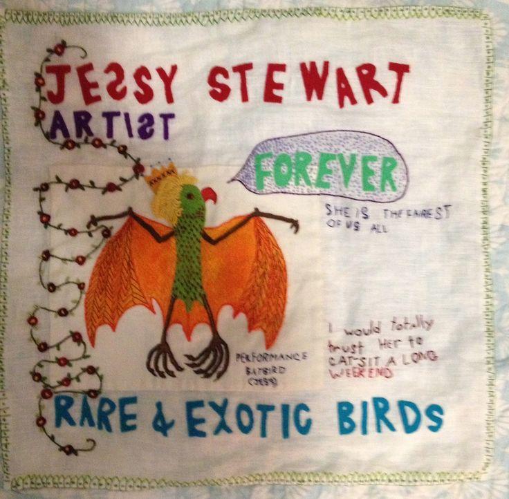 Joy Ivill - Rare Bird series of embroideries
