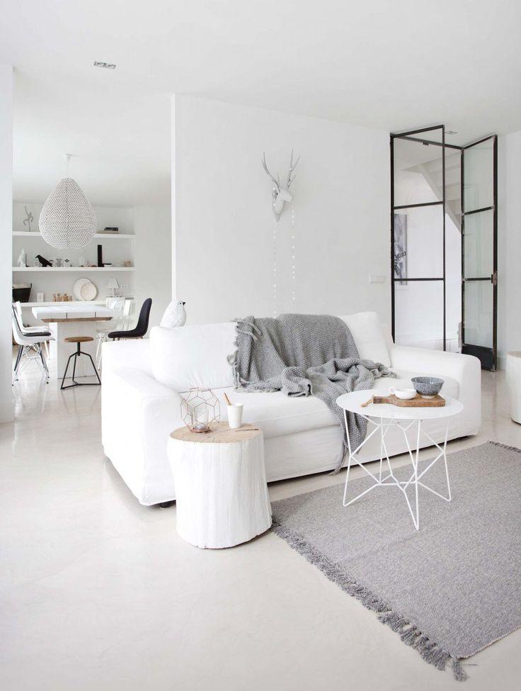 Best Livingroom In White And Hints Of Black Scandinavian 640 x 480