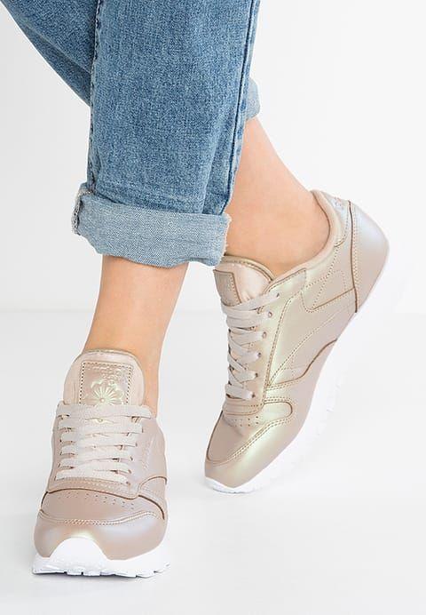 Chaussures Reebok Classic CLASSIC LEATHER PEARLIZED - Baskets basses - champagne/white marron clair: 90,00 € chez Zalando (au 31/01/17). Livraison et retours gratuits et service client gratuit au 0800 915 207.