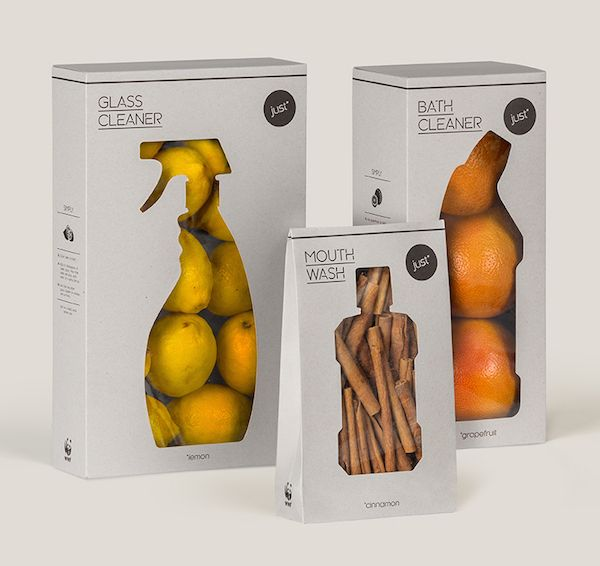 WWF's Brilliant Minimalist Packaging Shows That You Don't Need Packaging - DesignTAXI.com