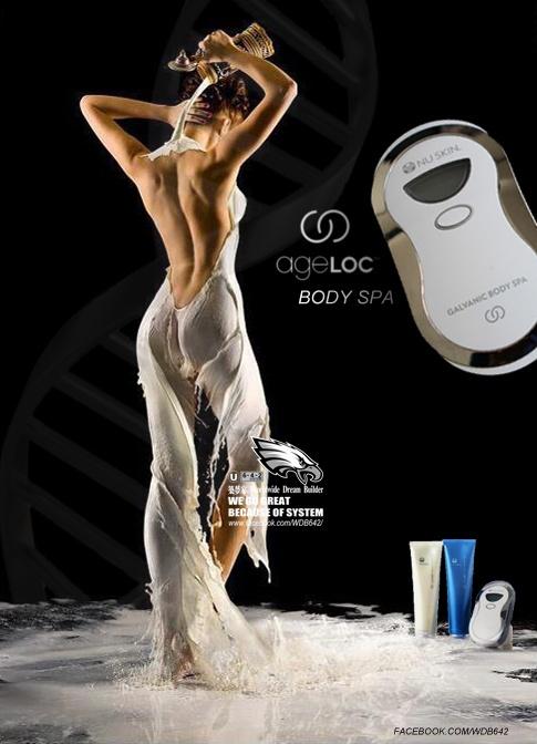 全球第一部人體工學掌上型基因美體脈衝Spa機運用ageLOC基因科技,ageLOC Body Spa Trio提升身體體液流動,改善皮膚結構及水潤度,以及增加脂肪代謝。將使肌膚展現緊實、平滑、纖形、水潤,以及減少橙皮組織。調節青春基因群組與身體肌膚老化四大結構的關連性:體液流動,皮膚結構,水潤度,脂肪代謝●減少橙皮組織●緊實●提昇●平滑●纖形●水潤
