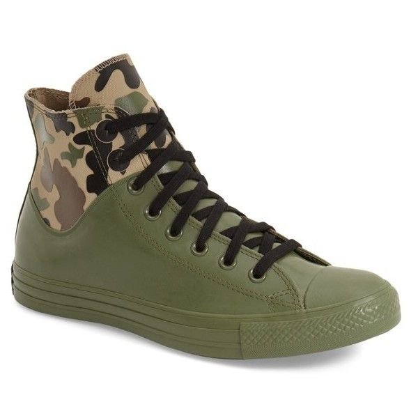 5f159cfae6d25 Converse Chuck Taylor All Star 'Camo Rubber' High Top Sneaker ($65) ❤ liked  on Polyvore featuring men's fashion, men's shoes, men's sneaker…