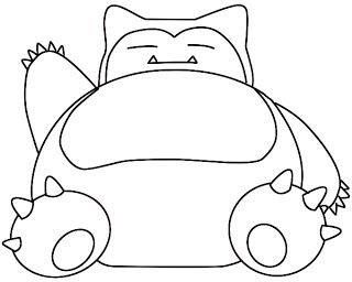 How To Draw Snorlax Pokemon Coloring Pokemon Coloring