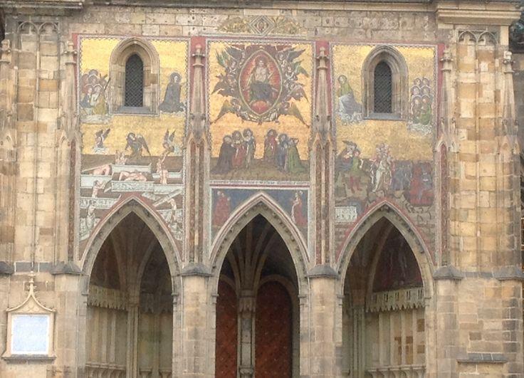 Architecture church, facade, Prague