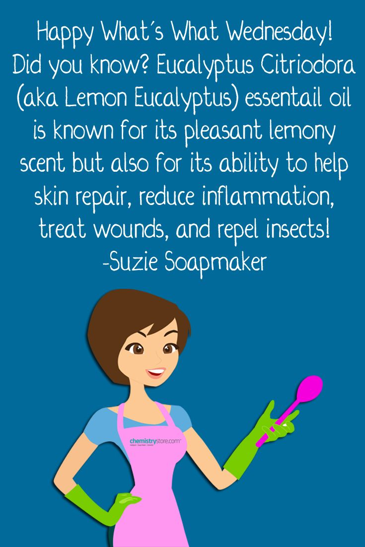 It's What's What Wednesday! Learn about Eucalyptus Citriodora (Lemon Eucalyptus) with Suzie Soapmaker!