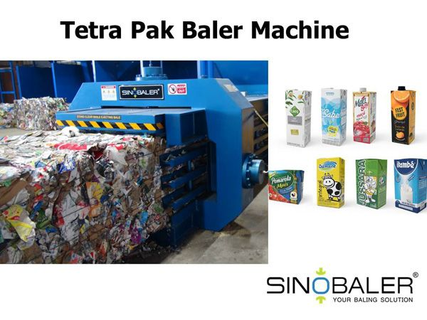 Tetra pak cartons are common drink packaging materials. They can be flattened and compressed into a tight bale for further recycling. So tetra pak cartons baler machine can help.