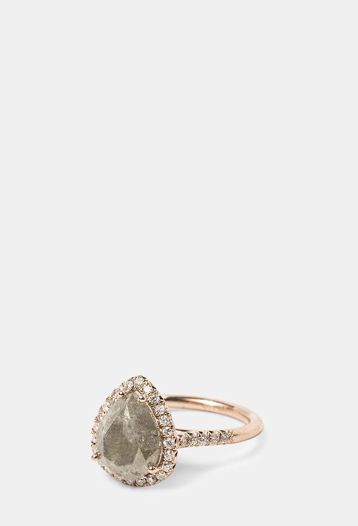 Best In Bridal: Stone Fox Bride Stone Fox Bride Raw Grey Diamond  Engagement Ring