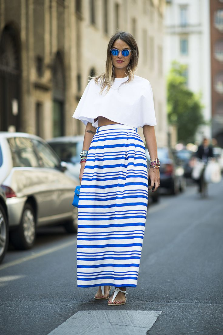 Best summer street style popsugar fashion - Summer Has Never Looked Better Thanks To This Street Styled Set What S More Perfect For Hot Summer Days Than A Crop Top And A Breezy Maxi Skirt In All The