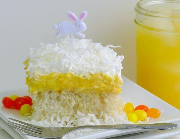 Orange Creamsicle Poke Cake- perfect for Easter
