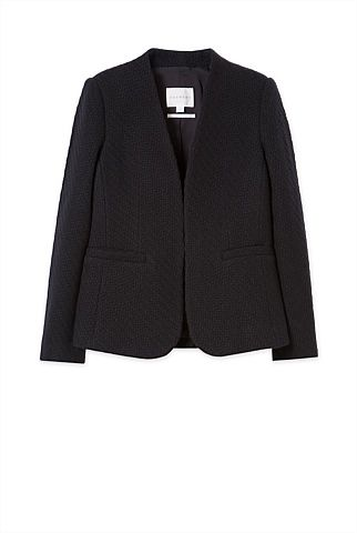 Wool Textured Blazer | Trenery