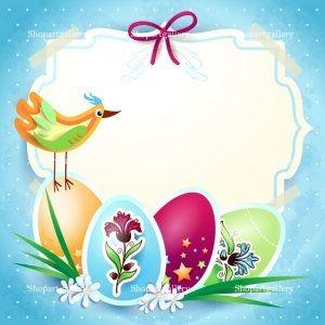 Easter card with custom label by Luisa Venturoli - shopartgallery.com