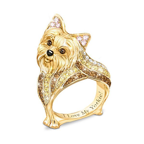 One look at the face of a sweet little Yorkie and you're smitten forever! Now you can have a wonderful way to show your love for the Yorkshire Terrier with the…