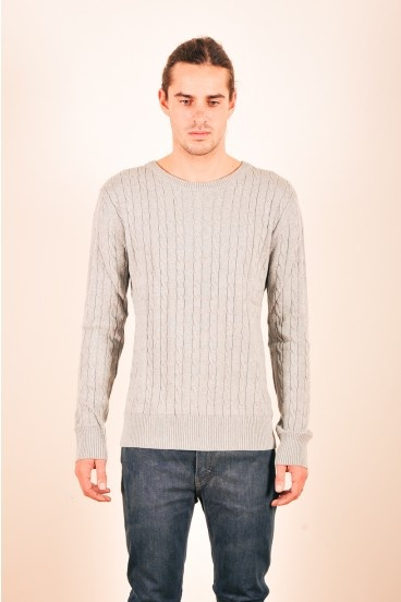 Fully fashioned cable knit from Mr Simple