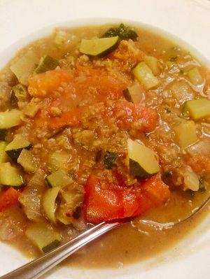 Vegetarische pittige groentencurry