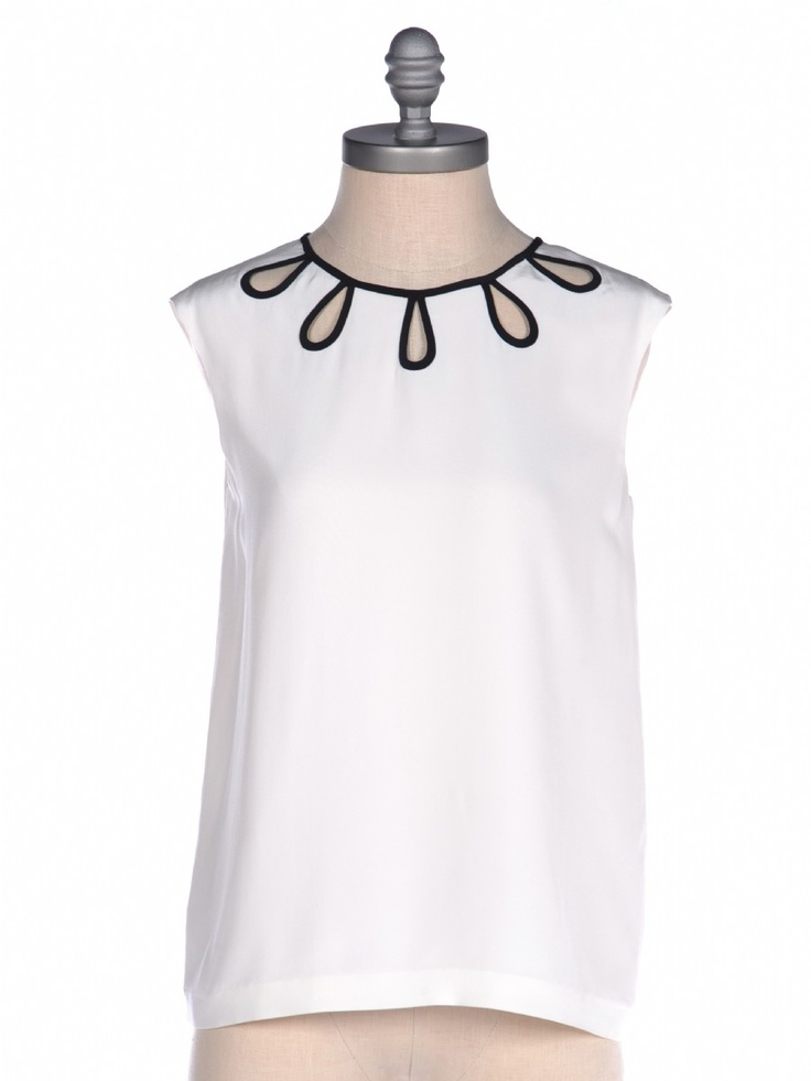 Sexy little keyholes. Anissa Top by Kate Spade