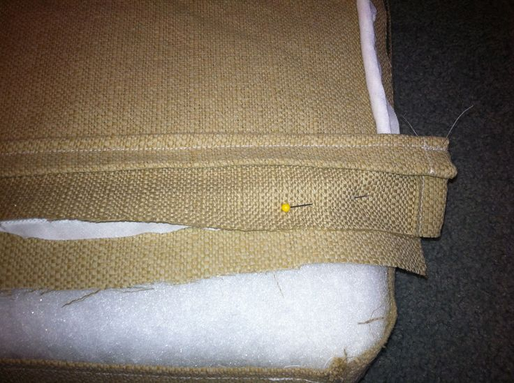 How To Sew A Window Seat Cushion With Piping