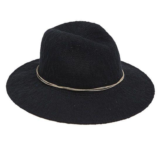 Шляпа-«федора» черная фетровая с серым шнурком на тулье, Oysho, где купить: Oysho