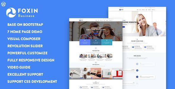 Foxin - Responsive Business WordPress Theme Download @mywpthemes_xyz