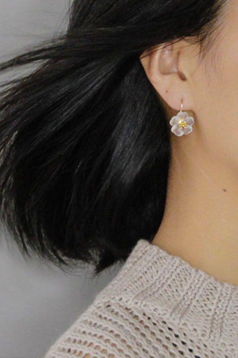 Rain Flower Sterling Silver Earrings  FREE WORLDWIDE SHIPPING