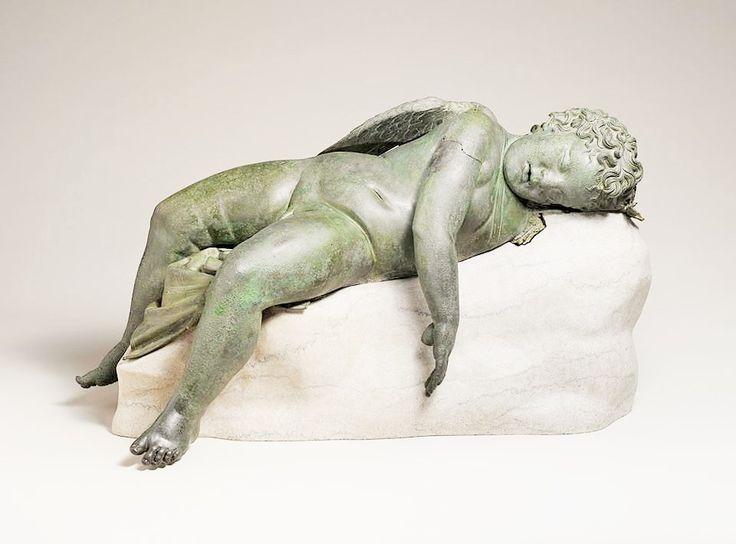 source : pinterest _ bronze sculpture statue of eros sleeping greek, hellenistic period, the metropolitan museum of art, ny