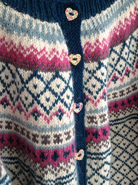 Lovely fair isle yoke cardigan