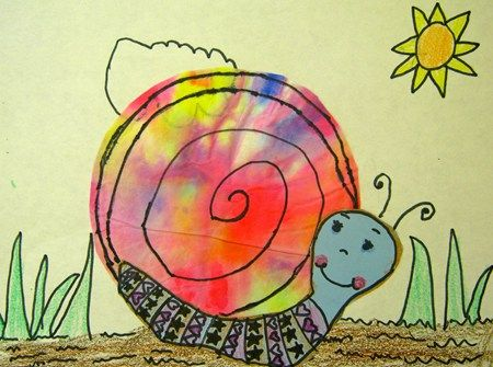 color mixing snail