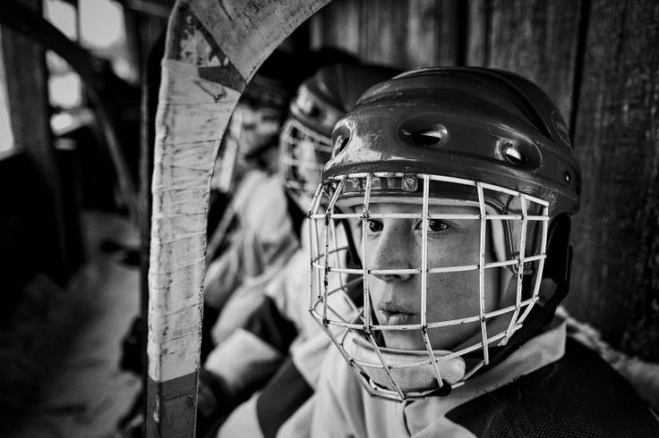 Sports, 1st prize stories.  A player from the junior team from the village Sharanga is expected to yield to the ice in Vetluga, Russia, Feb. 19, 2015.