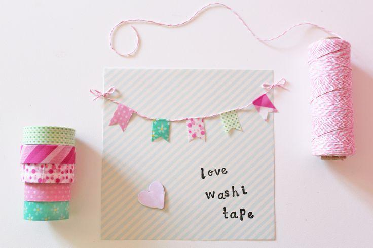 Washi tape card decor