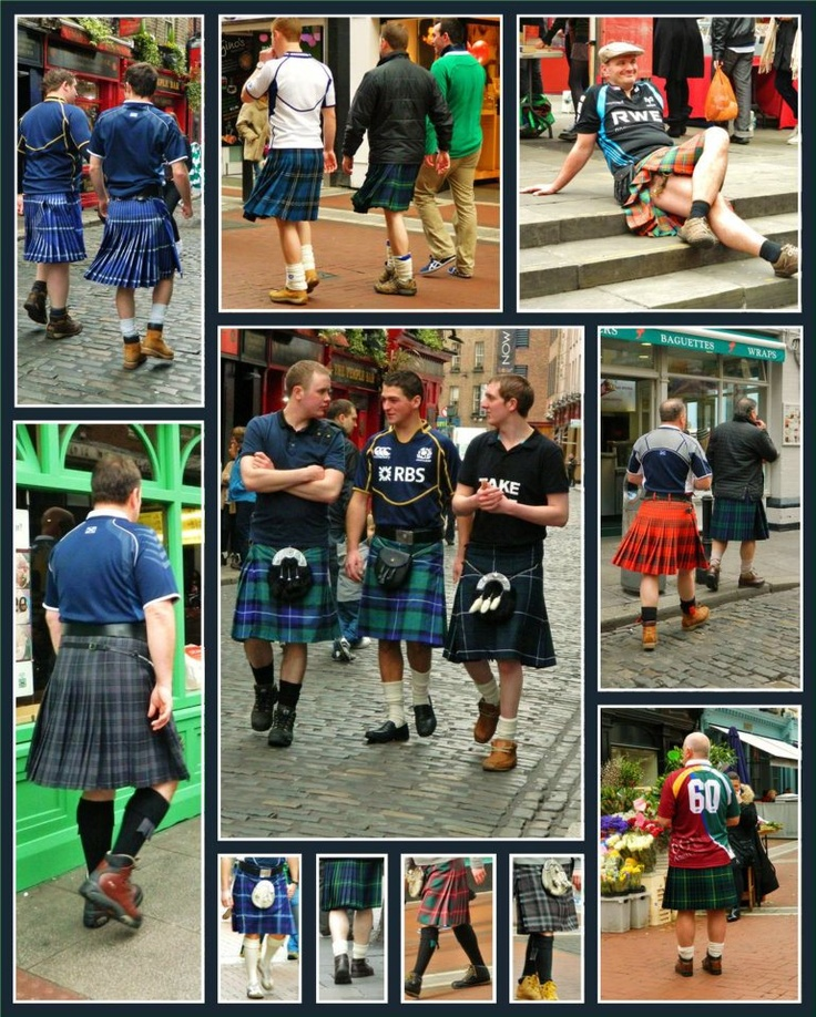 On the streets of Dublin last weekend, a student captured the variety of kilts worn by the Scots who were in Dublin for the Ireland v Scotland rugby match at The Aviva Stadium.: Things Alba Scotland, Dublin Kilts, Things Scottish, Kilter Kilts, Kilts Irish, Irish Stpattysday, Kilts Celtic, Things Celtic, Thunder Celtic Things