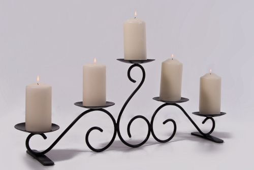 Mexican Wrought Iron Candle Holders | Hand made in wrought iron, this period candle holder is perfect for ...