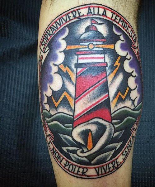 0f336390a 100 Lighthouse Tattoo Designs For Men - A Beacon Of Ideas | Tattoo ...
