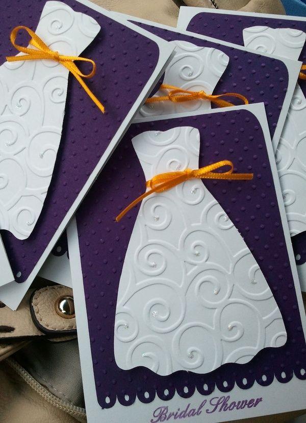 wedding shower invitations made with cricut - @Patricia Smith Romero