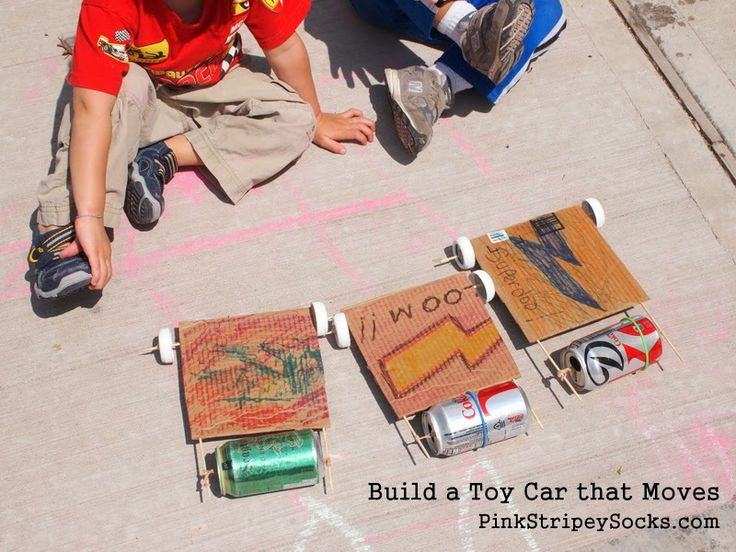 how to build a cardboard car that moves
