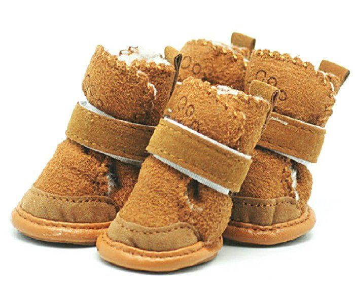 Faux Sheepskin Snow Pet Dog Uggs Boots - Dog Clothes, Small Dog Clothing, Dog Accessories - FREE SHIPPING WORLDWIDE