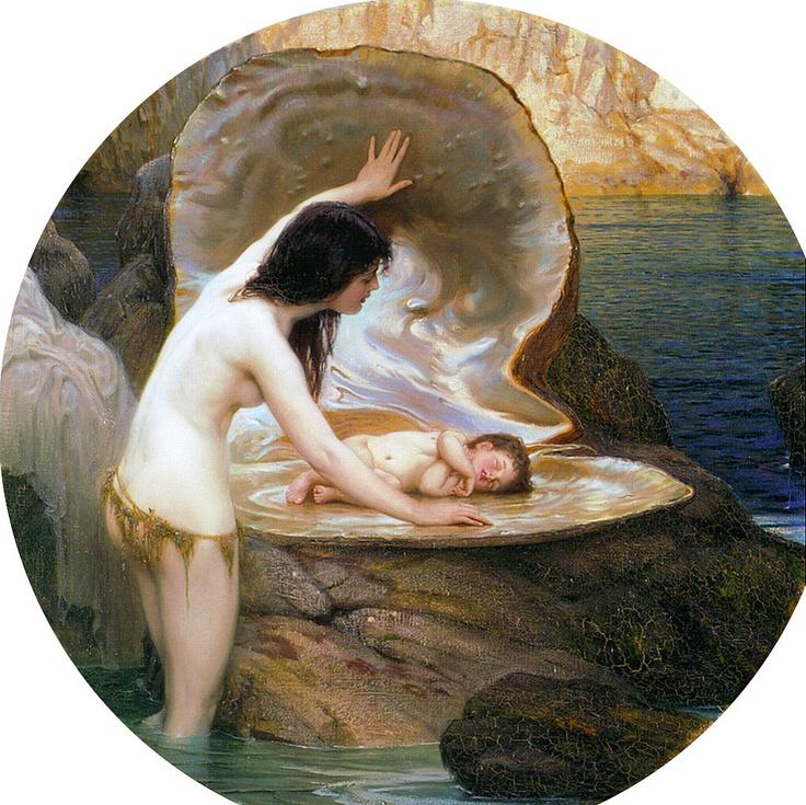 "Herbert James Draper (1863 – 1920), ""A Water Baby"""