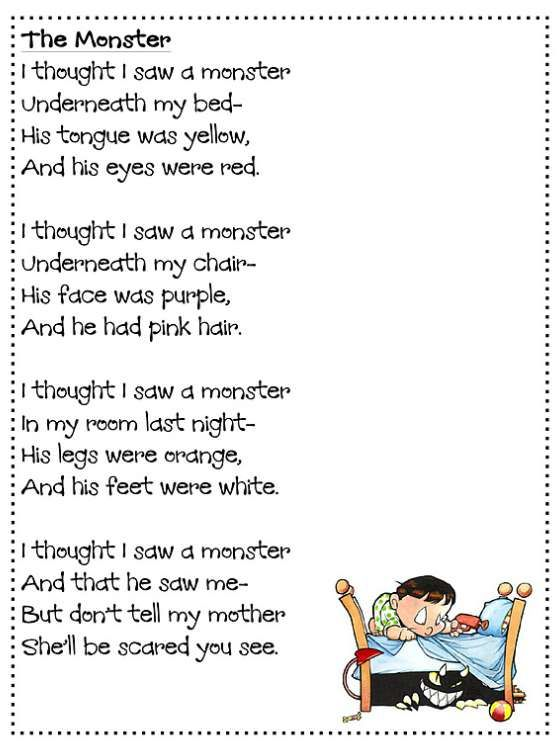 17 The Monster These Poems For Kids Are Funny And