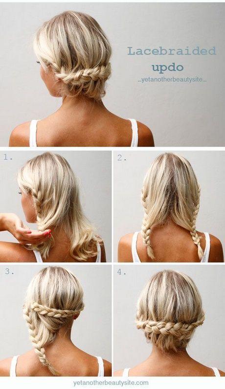 Einfache Hochsteckfrisuren für mittelhaariges Haar